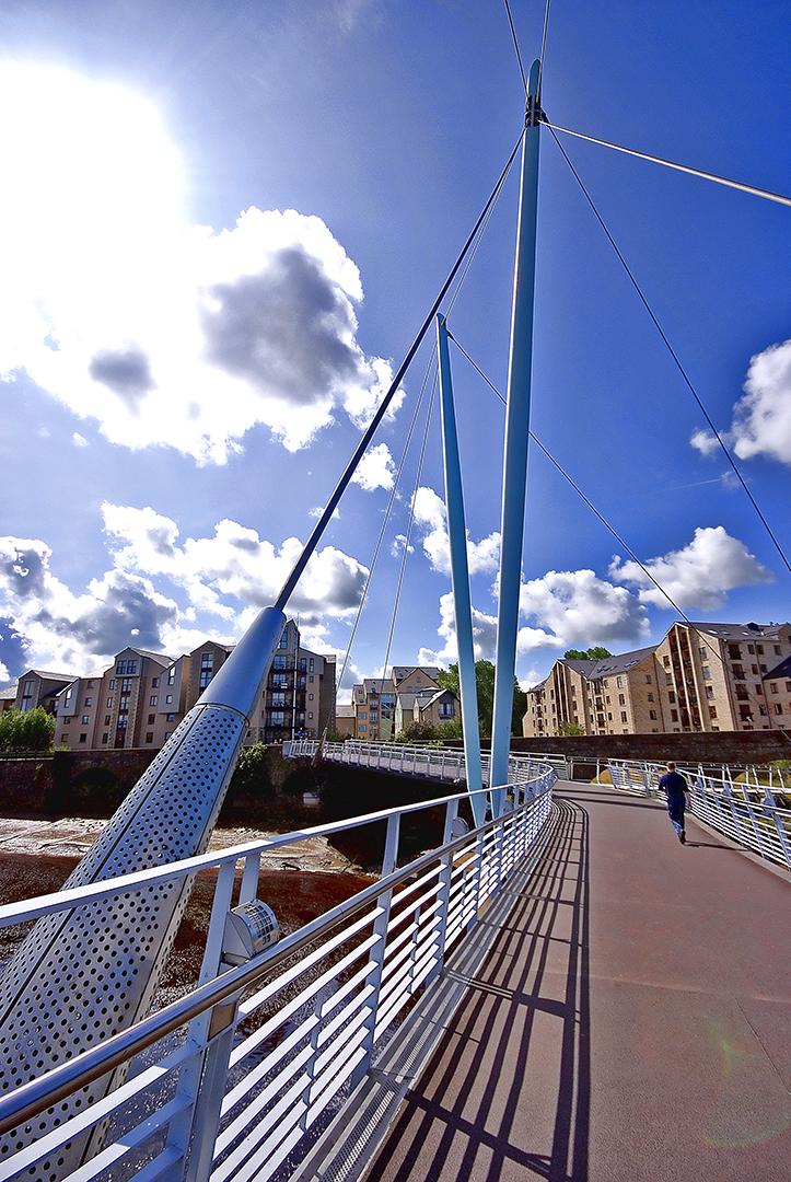 Commercial brochure photo of Millenium Bridge Lancaster