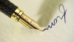 Product photography of Writing by Fountain Pen for Cumbria manufacturer