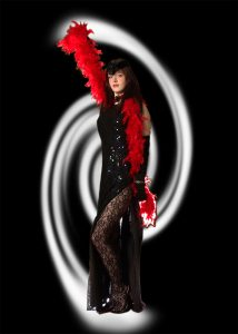 Sally Twirl in Pre publicity picture for Casterton School production of Cabaret