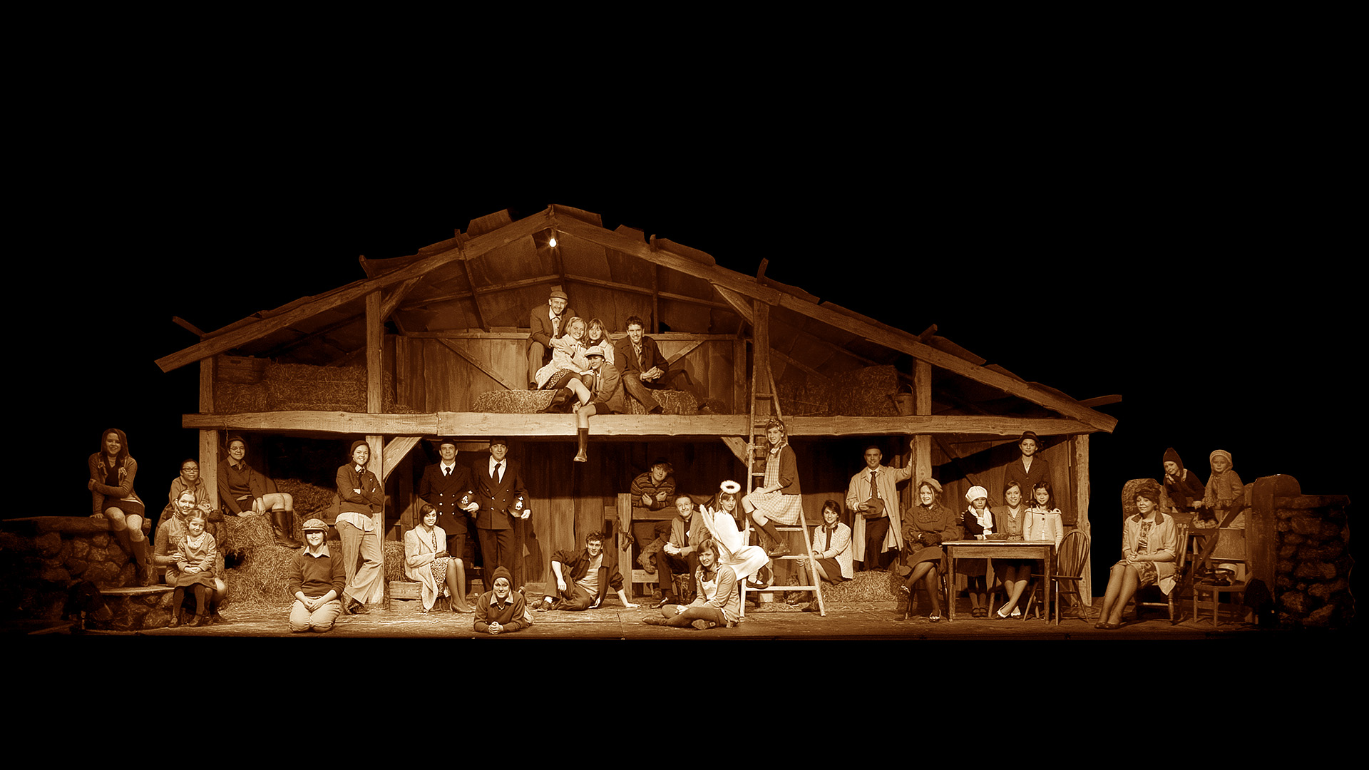 The Barn: Casterton School production of Whistle Down the Wind. WW001 Sepia