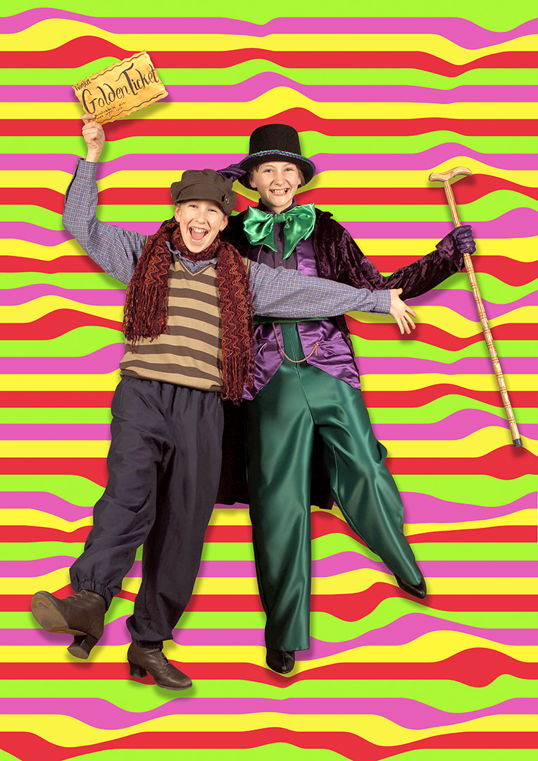 Psychedelic: Pre publicity picture for Casterton School production of Willie Wonka.