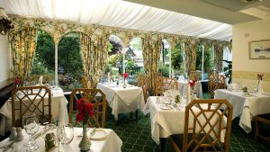 Wordsworth Hotel Conservatory Dining Room with beautifully draped tables